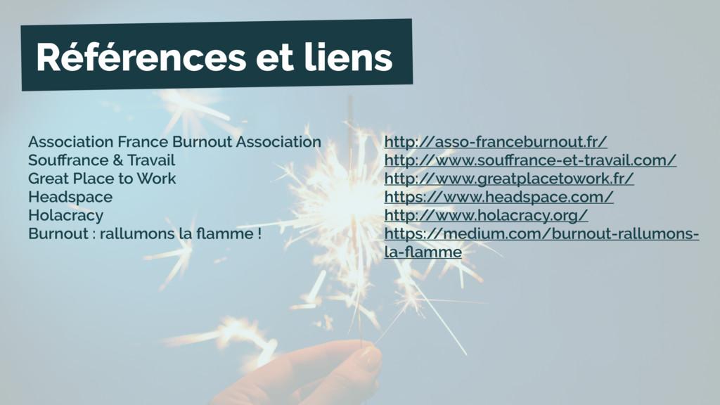 Références et liens Association France Burnout ...