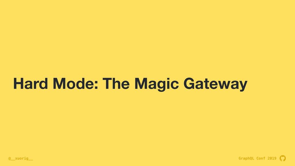 GraphQL Conf 2019 @__xuorig__ Hard Mode: The Ma...