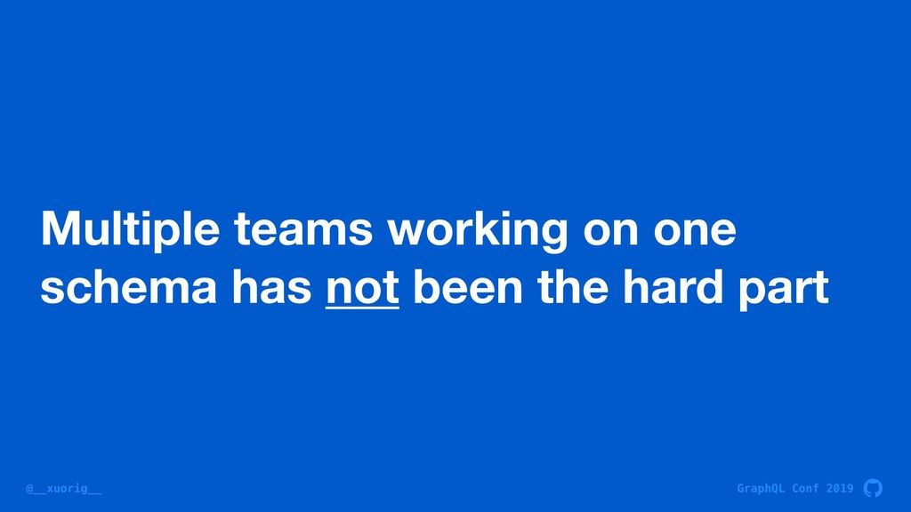 GraphQL Conf 2019 @__xuorig__ Multiple teams wo...