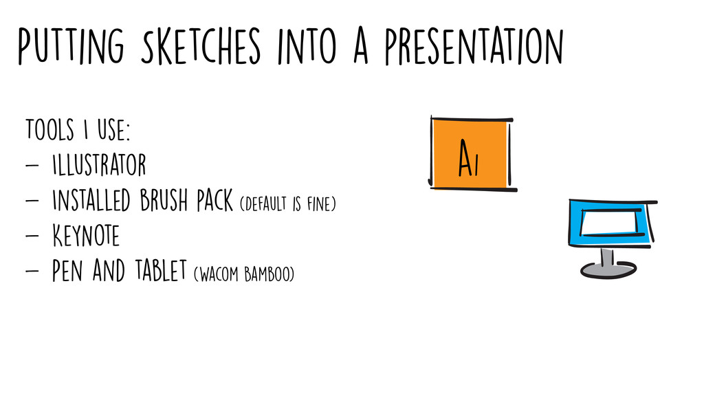 Putting Sketches into a presentation Tools I us...