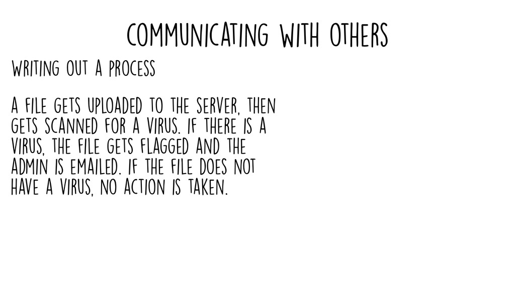 communicating with others a file gets uploaded ...