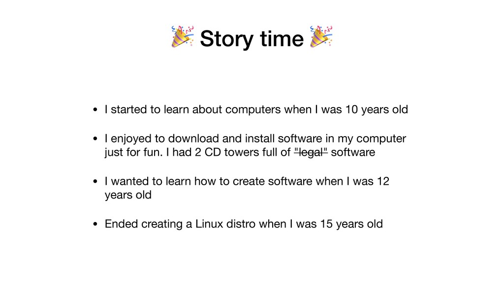 Story time  • I started to learn about compute...