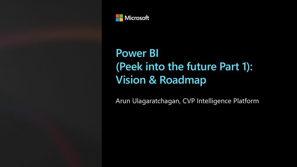 Power BI (Peek into the future Part 1): Vision ...