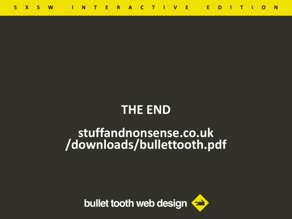bullet tooth web design THE