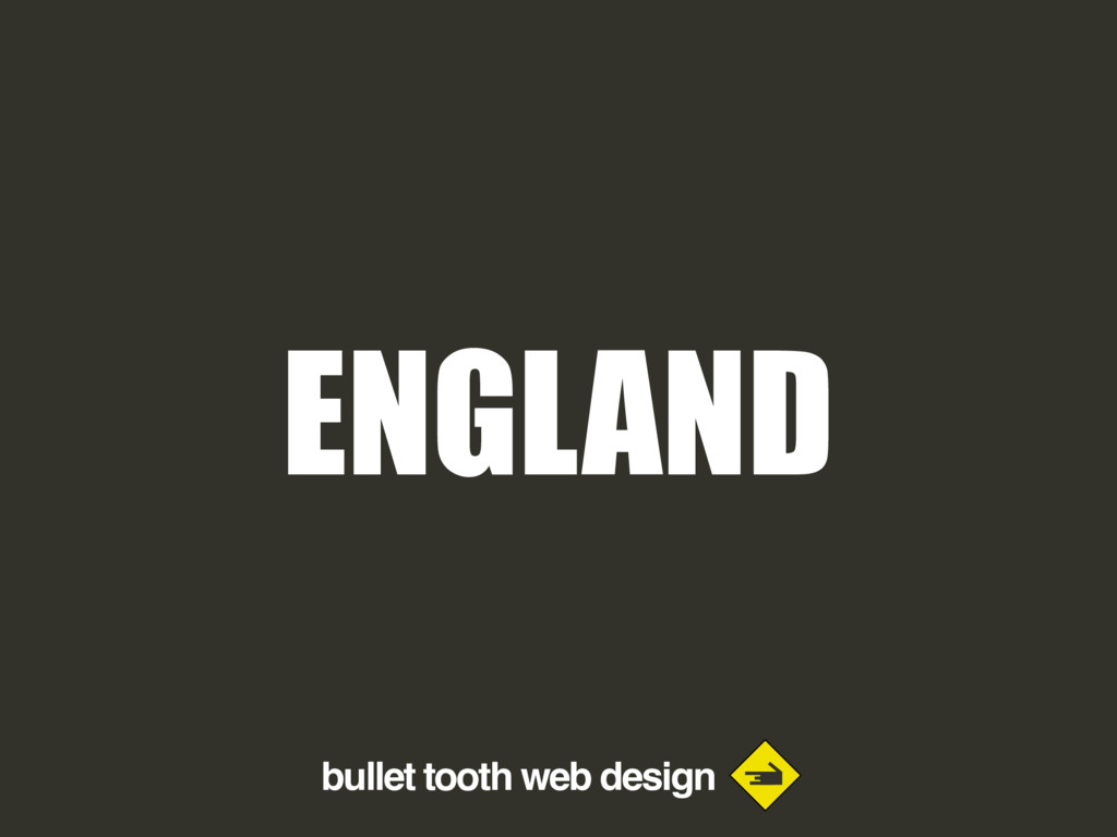 bullet tooth web design ENGLAND