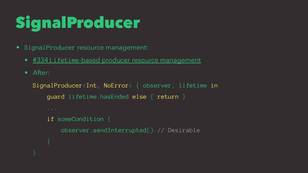 SignalProducer • SignalProducer resource manage...