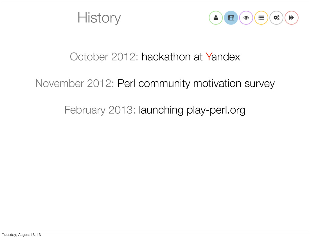 History October 2012: hackathon at Yandex Novem...