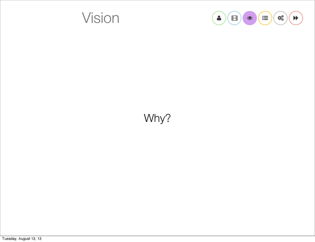 Vision Why? Tuesday, August 13, 13