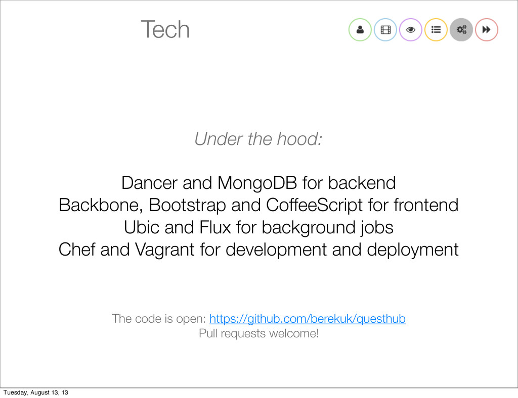 Tech Under the hood: Dancer and MongoDB for bac...