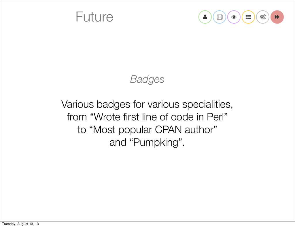 Future Badges Various badges for various specia...