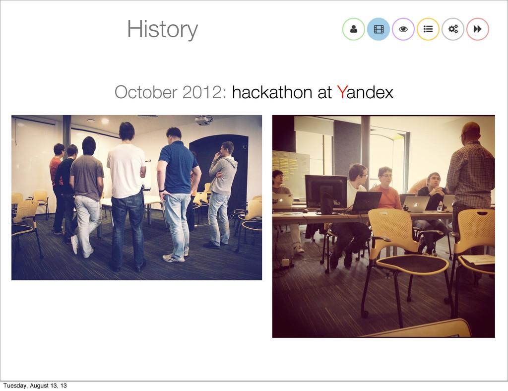 History October 2012: hackathon at Yandex Tuesd...