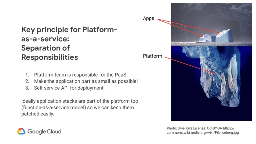 Key principle for Platform- as-a-service:  Sepa...