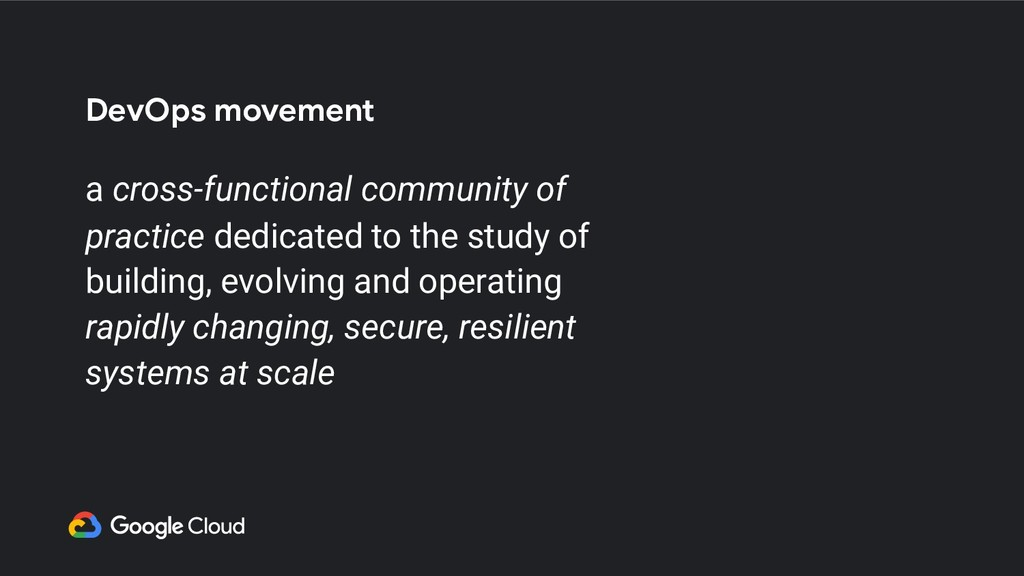 DevOps movement a cross-functional community of...
