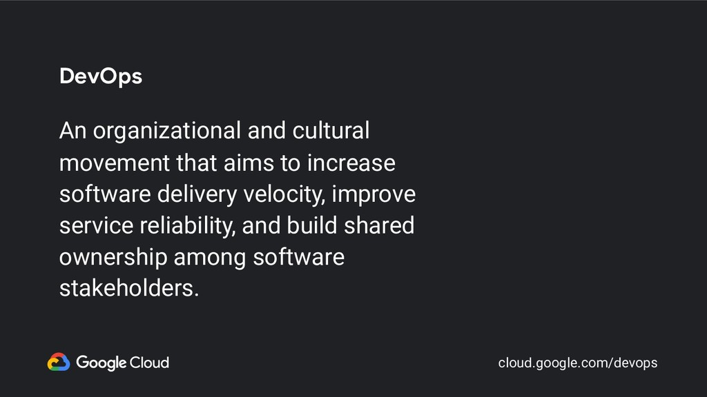 DevOps An organizational and cultural movement ...