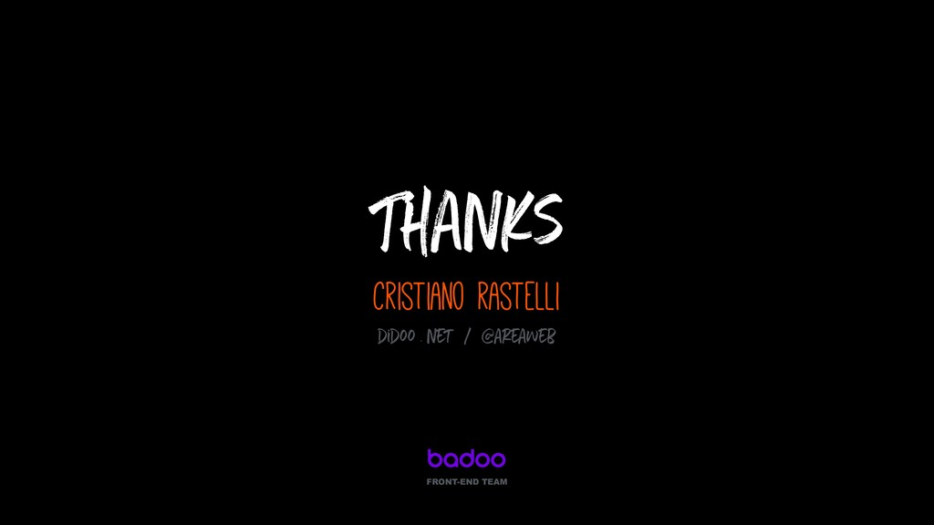 Thanks cristiano rastelli FRONT-END TEAM didoo ...
