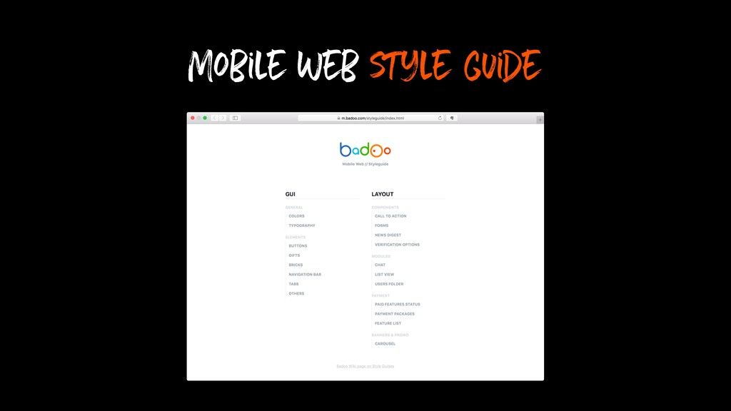 Mobile Web style guide