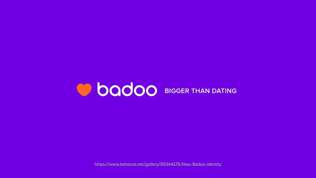 BIGGER THAN DATING https://www.behance.net/gall...