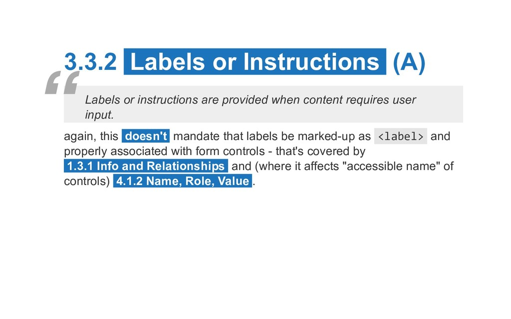 3.3.2 Labels or Instructions (A) Labels or inst...