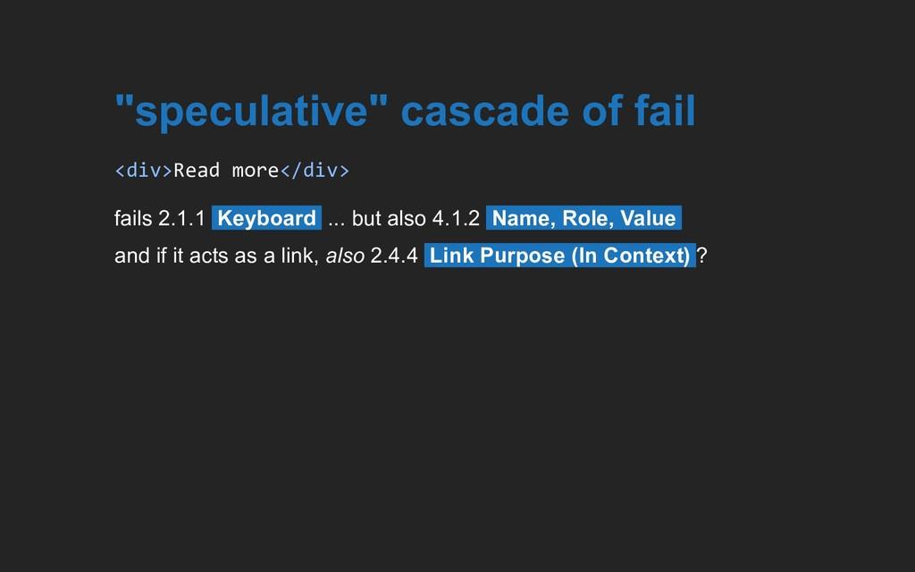 """speculative"" cascade of fail <div>Read more</d..."