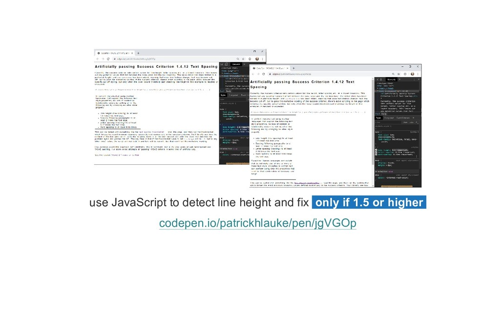 use JavaScript to detect line height and fix on...