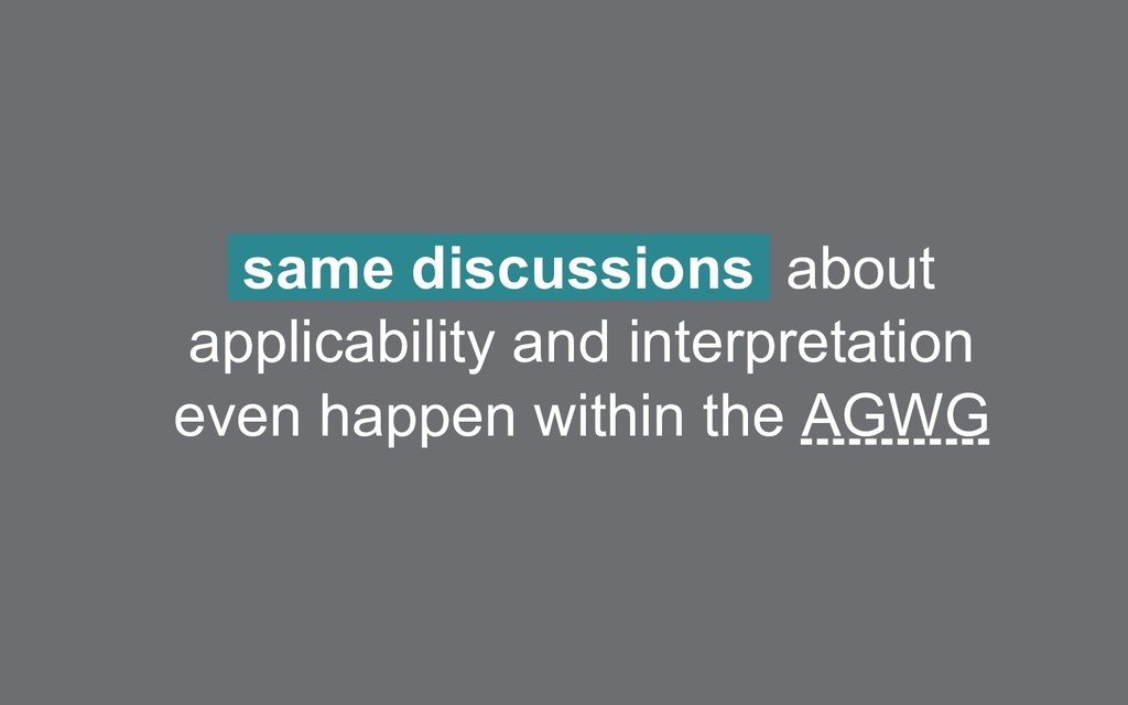 same discussions about applicability and interp...