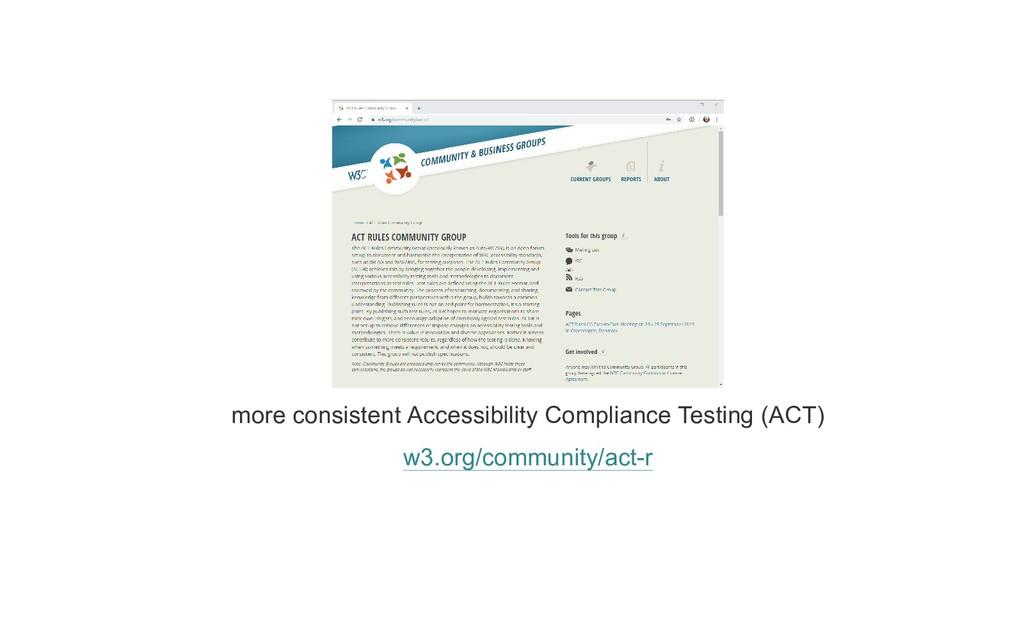 more consistent Accessibility Compliance Testin...