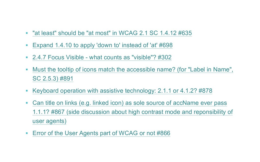 """▪ """"at least"""" should be """"at most"""" in WCAG 2.1 S..."""