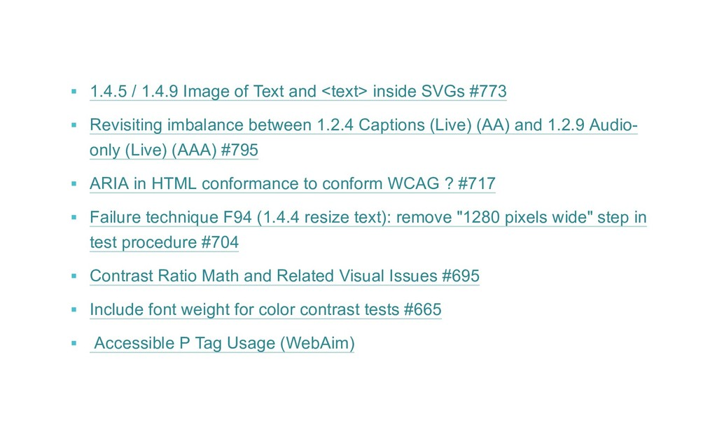 ▪ 1.4.5 / 1.4.9 Image of Text and <text> insid...