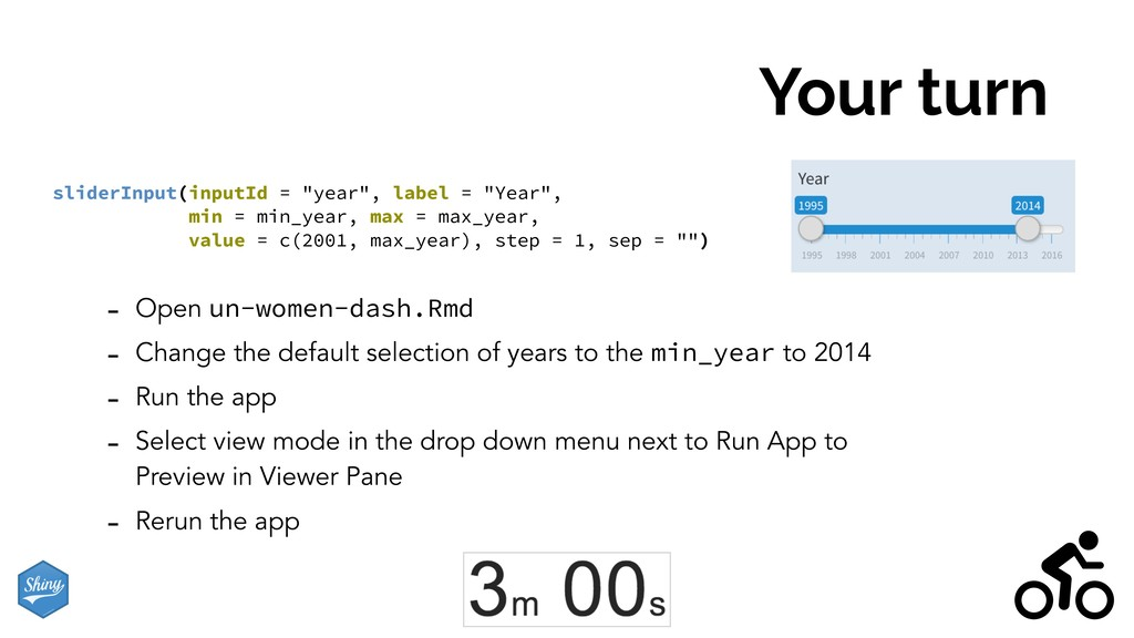 Your turn - Open un-women-dash.Rmd - Change the...