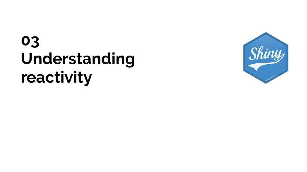 03 Understanding reactivity