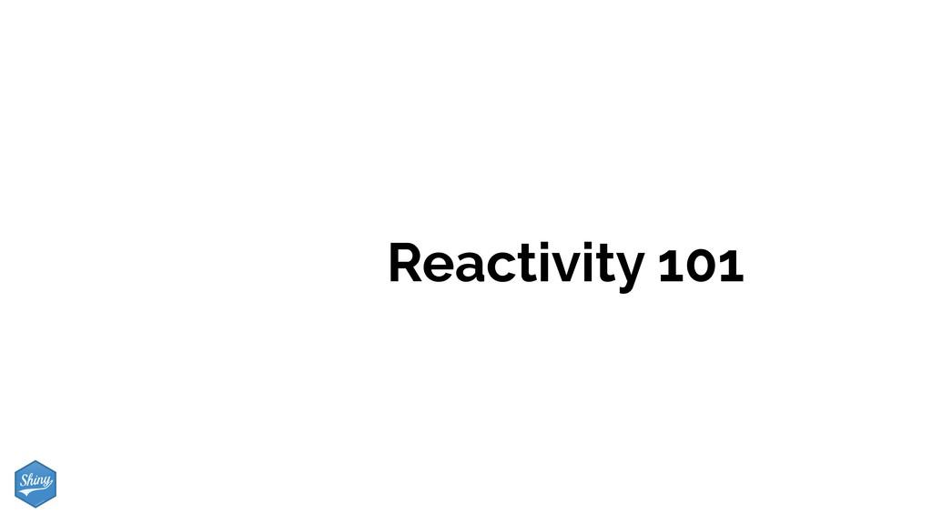 Reactivity 101