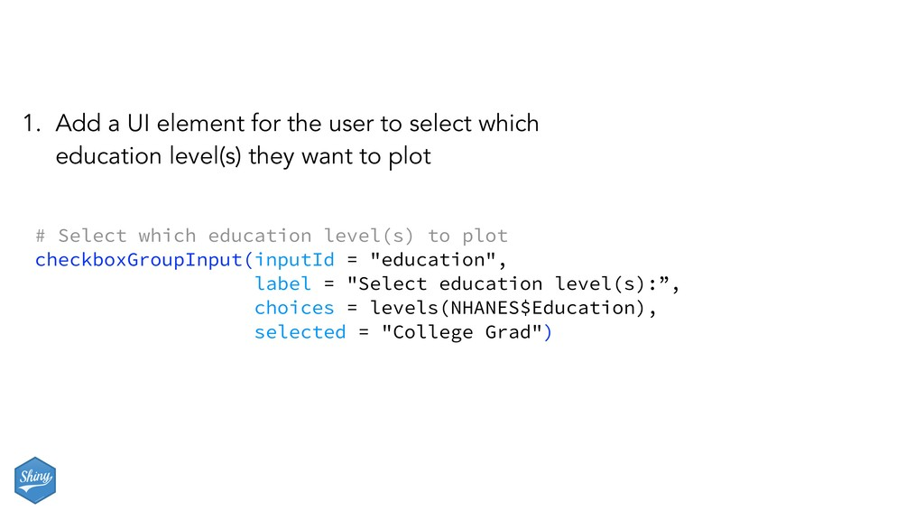 # Select which education level(s) to plot check...