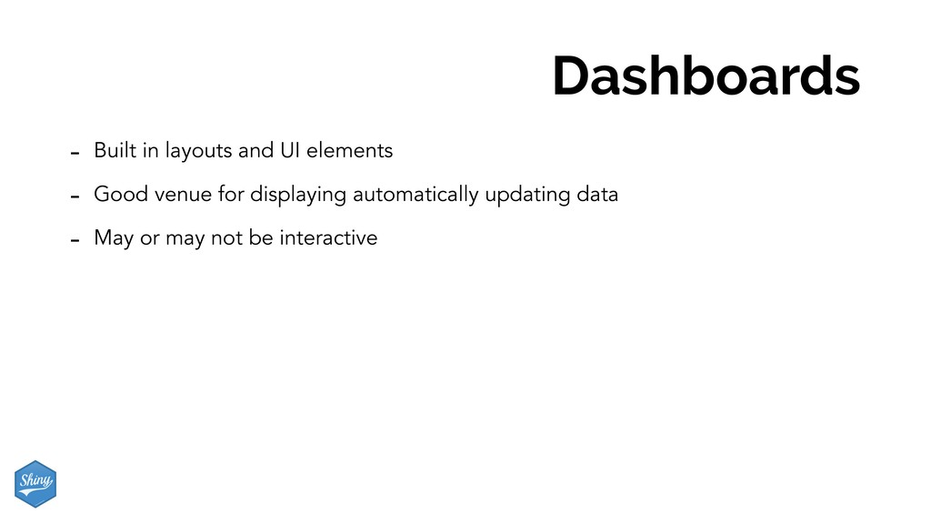 Dashboards - Built in layouts and UI elements -...