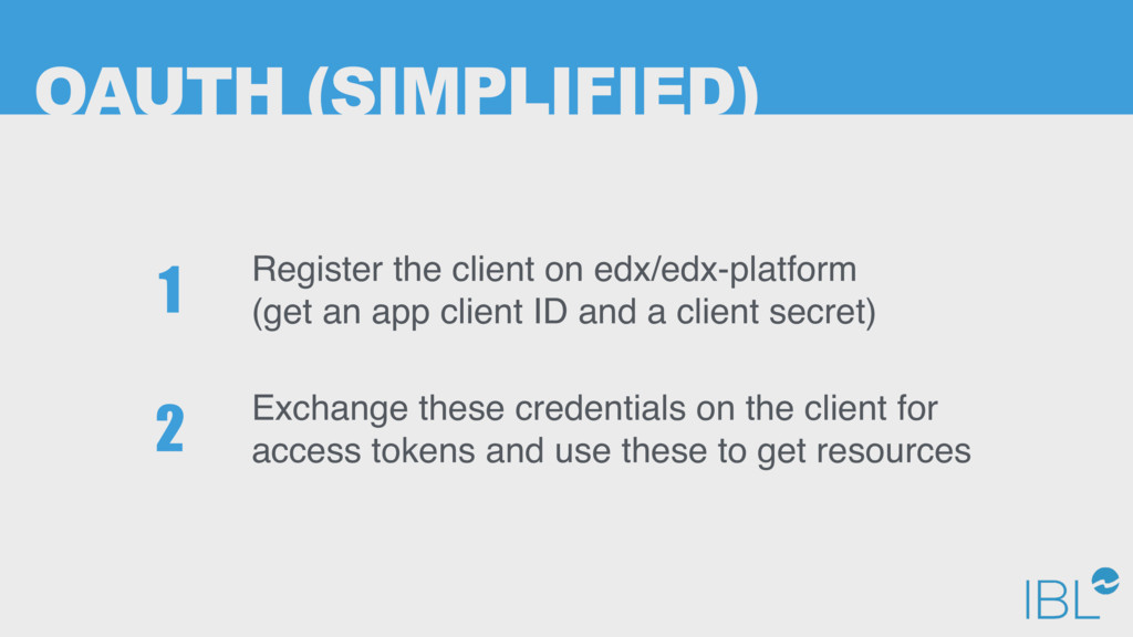OAUTH (SIMPLIFIED) Register the client on edx/e...
