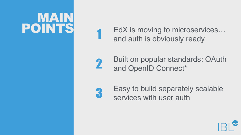 MAIN POINTS EdX is moving to microservices… and...