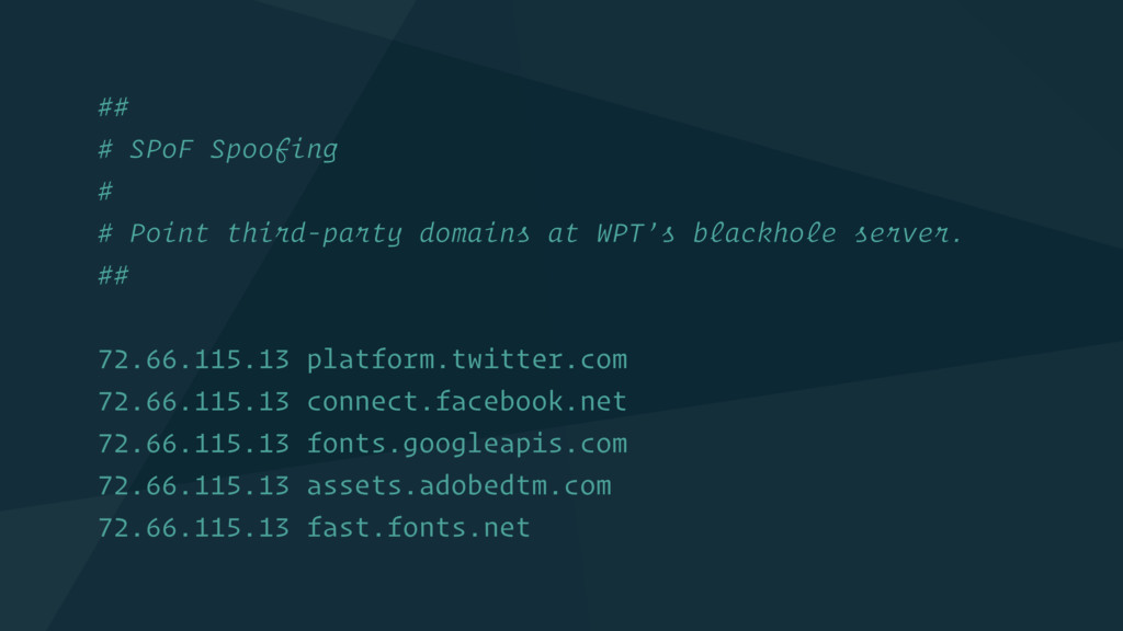 ## # SPoF Spoofing # # Point third-party domain...