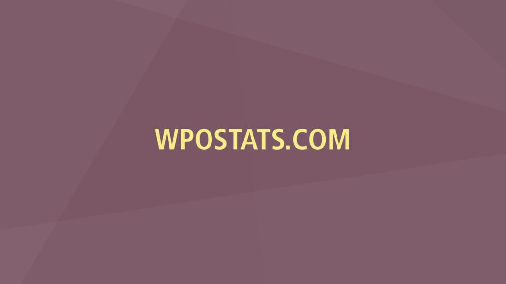 WPOSTATS.COM
