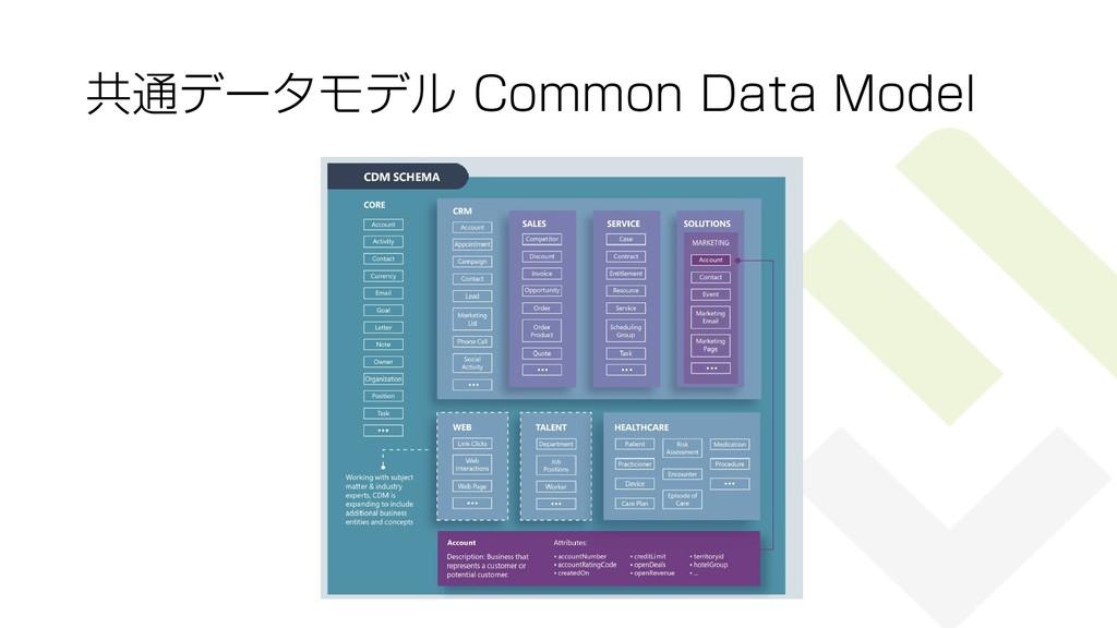 共通データモデル Common Data Model 41