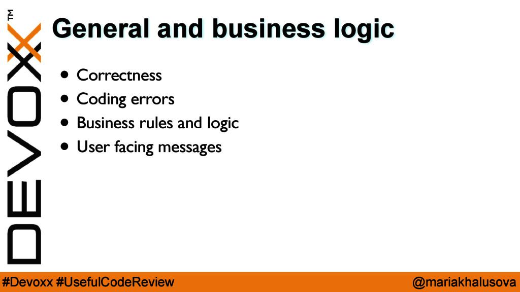@mariakhalusova #Devoxx #UsefulCodeReview Gener...