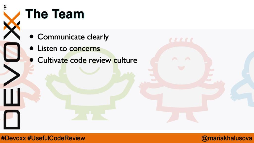 @mariakhalusova #Devoxx #UsefulCodeReview The T...