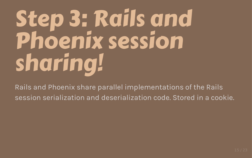 Step 3: Rails and Phoenix session sharing! Rail...