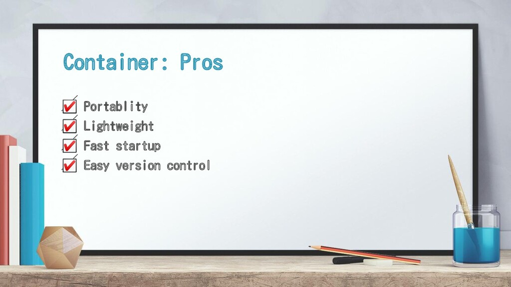 ☑ Portablity ☑ Lightweight ☑ Fast startup ☑ Eas...