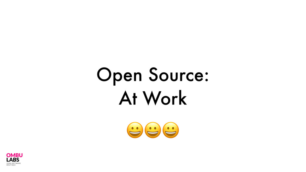 Open Source: At Work 20
