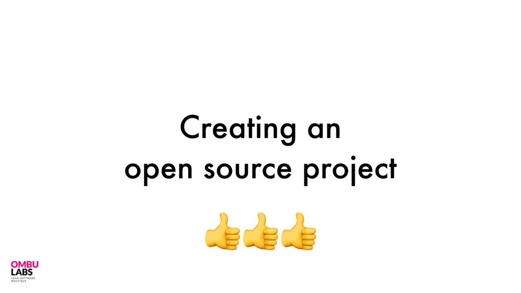 Creating an open source project 25