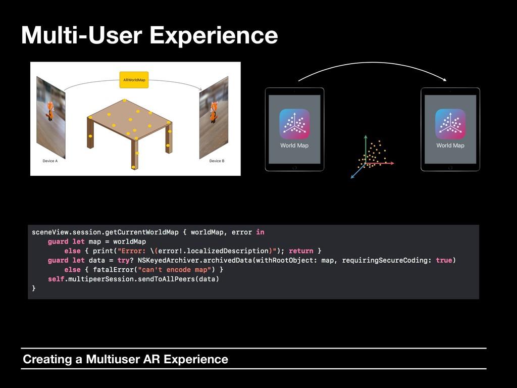 Multi-User Experience Creating a Multiuser AR E...
