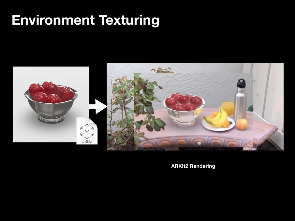 Environment Texturing ARKit2 Rendering