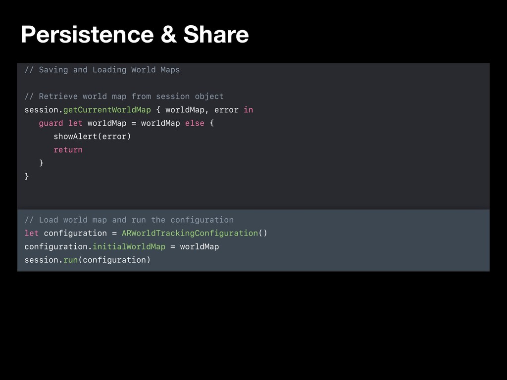 Persistence & Share