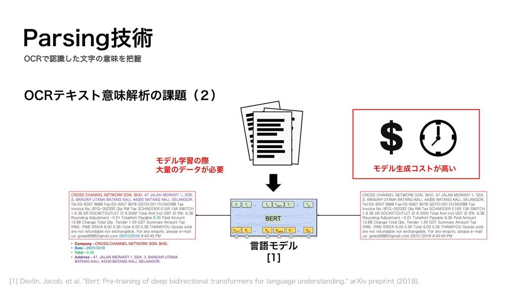 0$3ςΩετҙຯղੳͷ課題ʢ̎ʣ 1BSTJOHٕज़ 言語Ϟσϧ <> CROSS CHA...