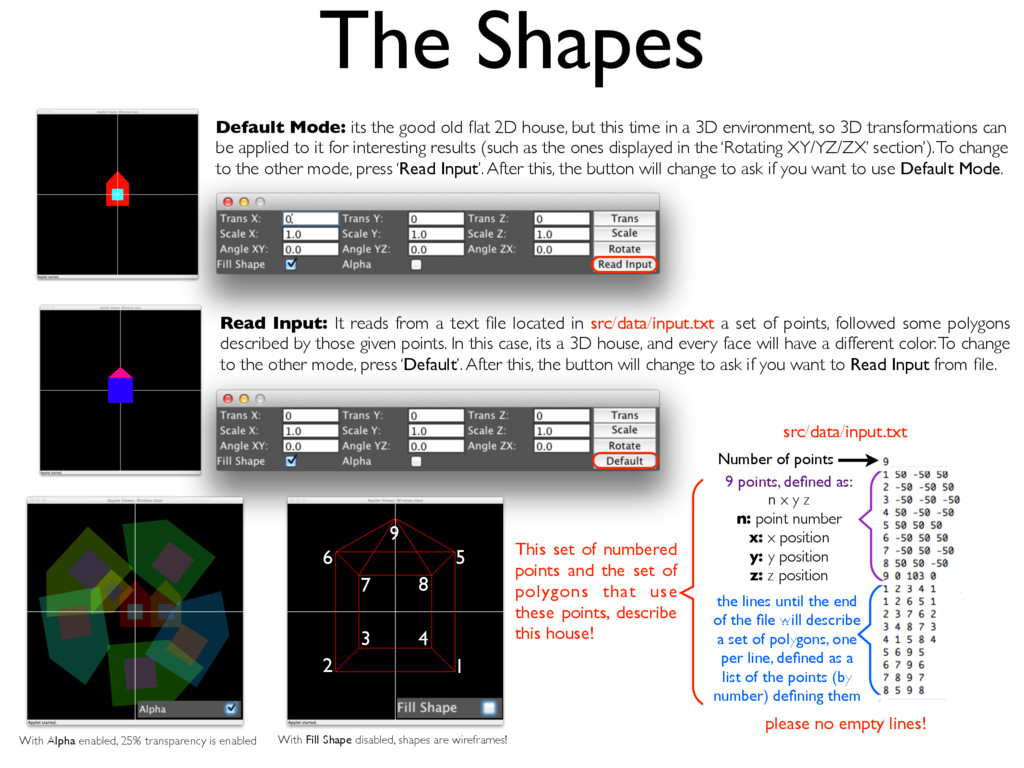 The Shapes Default Mode: its the good old flat 2...