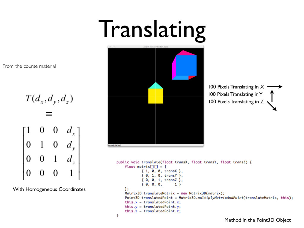 With Homogeneous Coordinates Method in the Poin...